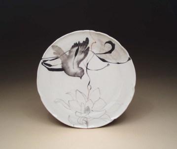 Bird and flower plate